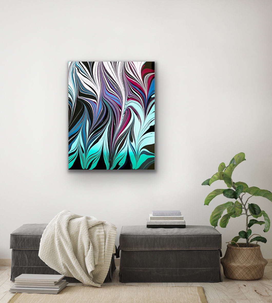 Blue Black Seaweed 6 Wall Art