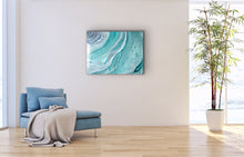 Load image into Gallery viewer, Aqua Rings Wall Art