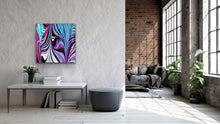 Load image into Gallery viewer, Purple V Square 2 Wall Art