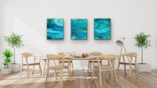 Load image into Gallery viewer, Triple Blue Yellow 3 Wall Art