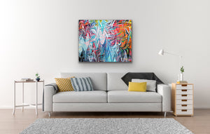 Dancing White Waves Wall Art