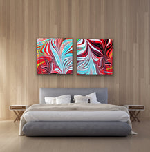 Load image into Gallery viewer, Blue Arrow Square 1 Wall Art