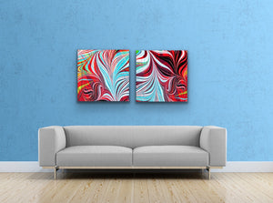 Blue Arrow Square 1 Wall Art