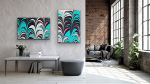 Aqua Plum 6 Wall Art