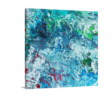 Load image into Gallery viewer, Blue with Red Splat Wall Art