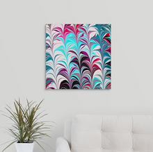 Load image into Gallery viewer, Pink Leaves with Aqua 2 Wall Art