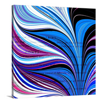 Load image into Gallery viewer, Purple V Square 1 Wall Art