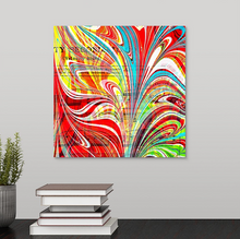 Load image into Gallery viewer, Red Stab Square 1 Wall Art