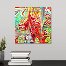 Load image into Gallery viewer, Red Stab Square 2 Wall Art