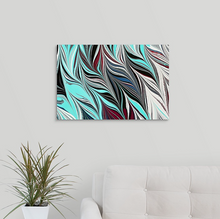 Load image into Gallery viewer, Blue Black Seaweed 1 Wall Art