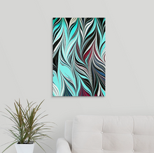 Load image into Gallery viewer, Blue Black Seaweed 2 Wall Art