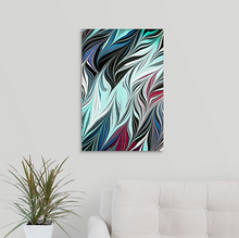 Load image into Gallery viewer, Blue Black Seaweed 3 Wall Art