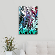Load image into Gallery viewer, Blue Black Seaweed 6 Wall Art