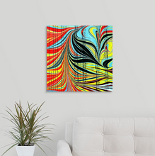 Load image into Gallery viewer, Black Hearts Square 1 Wall Art