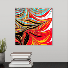 Load image into Gallery viewer, Black Hearts Square 2 Wall Art