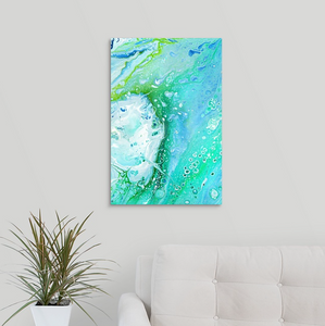 Green Fire Rock 1 Wall Art