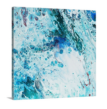 Load image into Gallery viewer, Turquoise Blue and Light Red 2 Wall Art