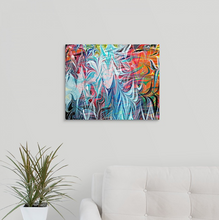 Load image into Gallery viewer, Dancing White Waves Wall Art