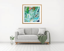 Load image into Gallery viewer, Green with Orange and Tan 1 Wall Art