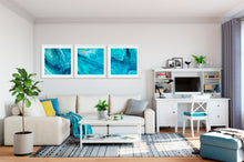 Load image into Gallery viewer, Blue Wave with Pink Wall Art