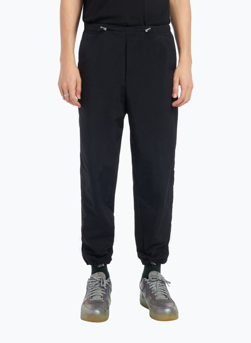 Drawstring Pants in Black Technical Material