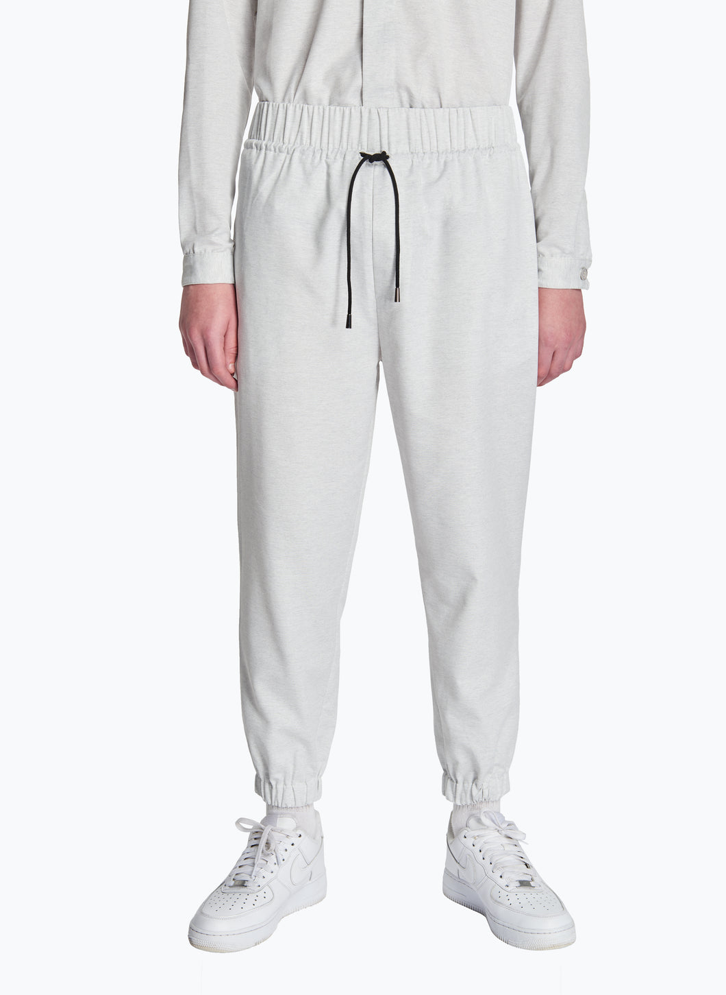 Jogging Pants in Light Grey Recycled Cotton