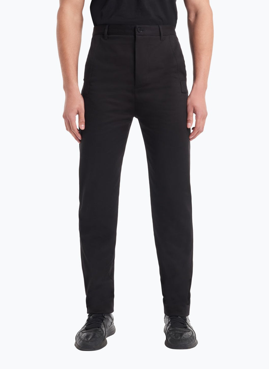 Pants with Reinforced Pockets in Black Gabardine
