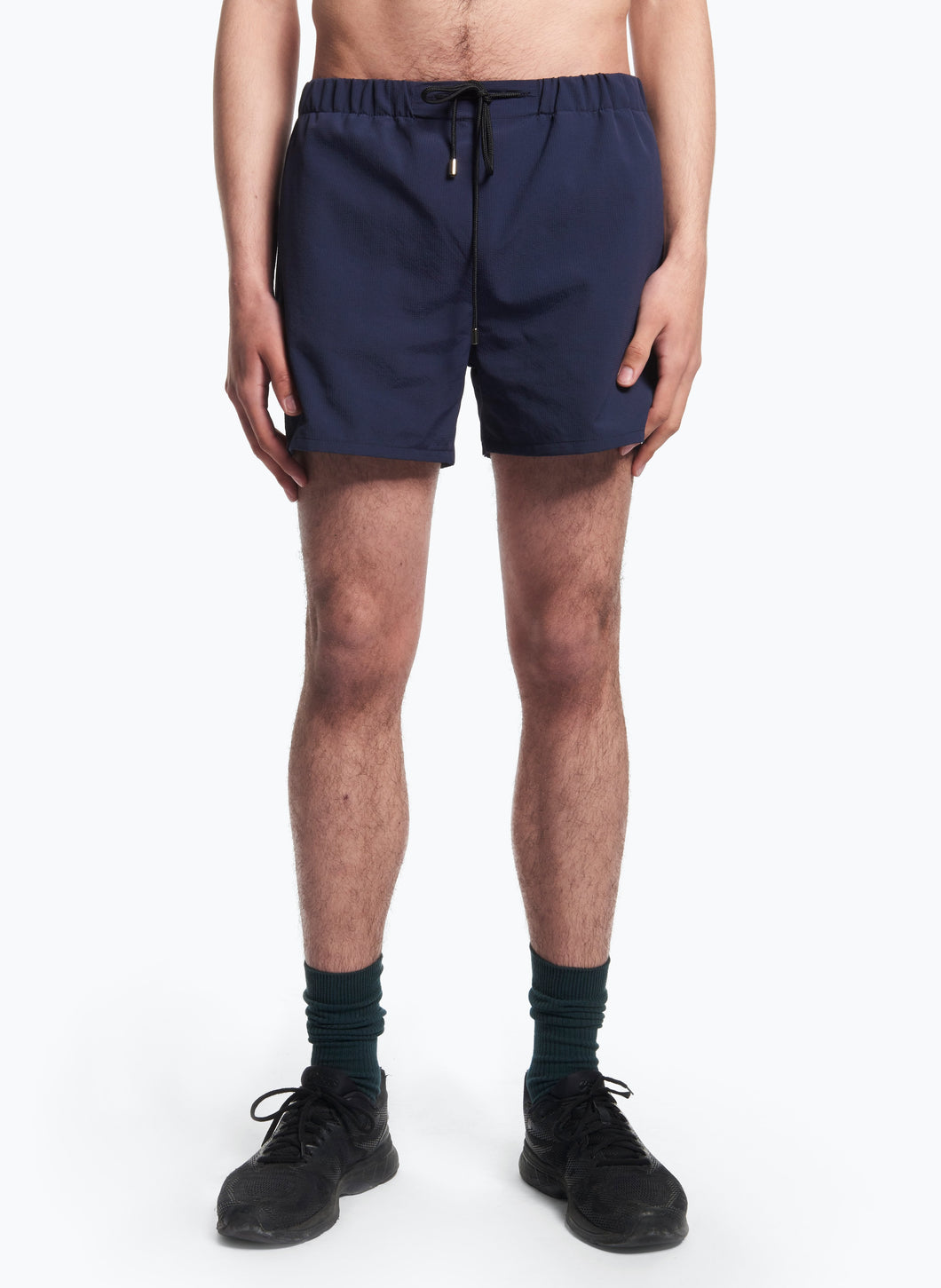 Swim Shorts with Italian Pockets in Navy Blue Ripstop