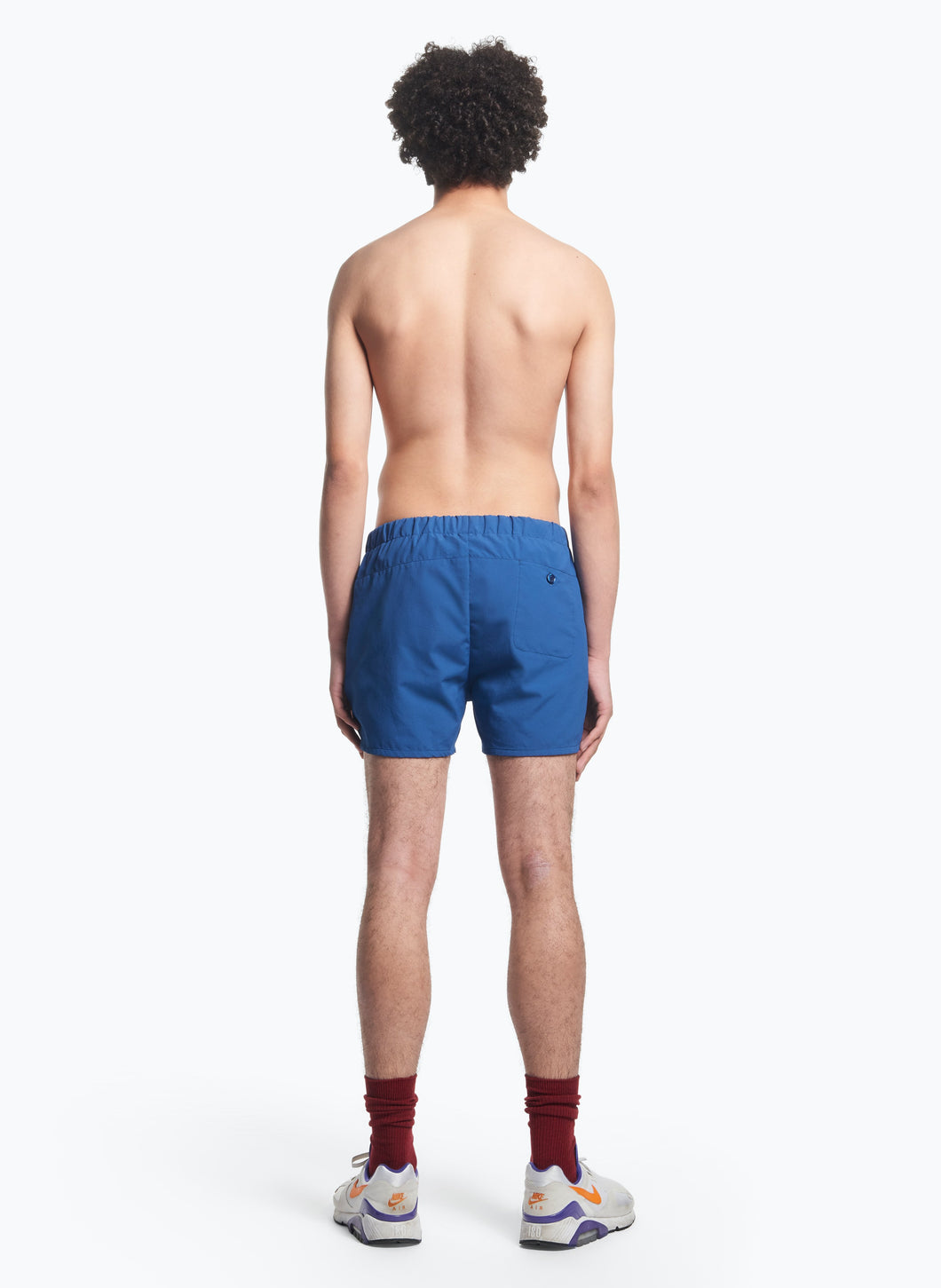 Swim Shorts with Italian Pockets in Royal Blue Ripstop