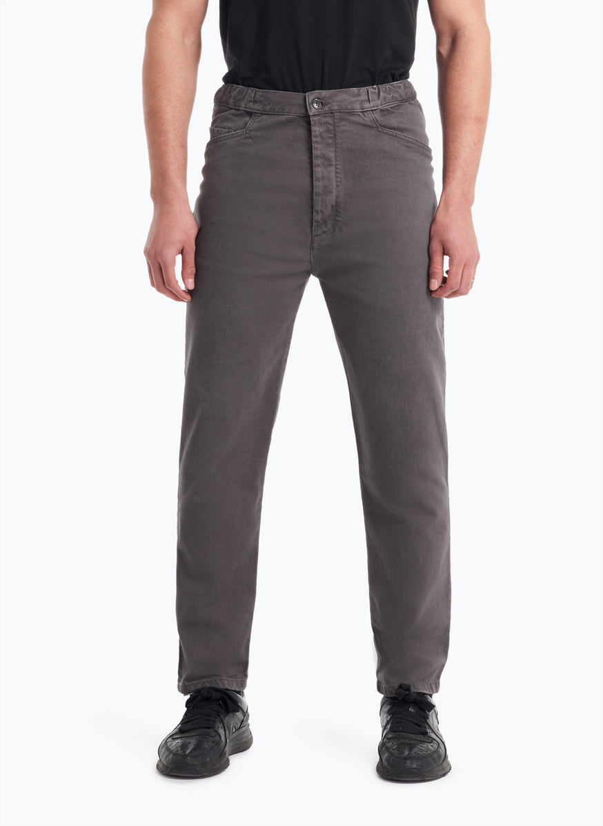 5-Pocket Pants in Dark Grey Denim