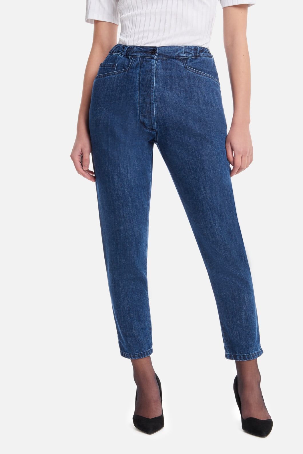 5-Pocket Pants in Stoned Denim