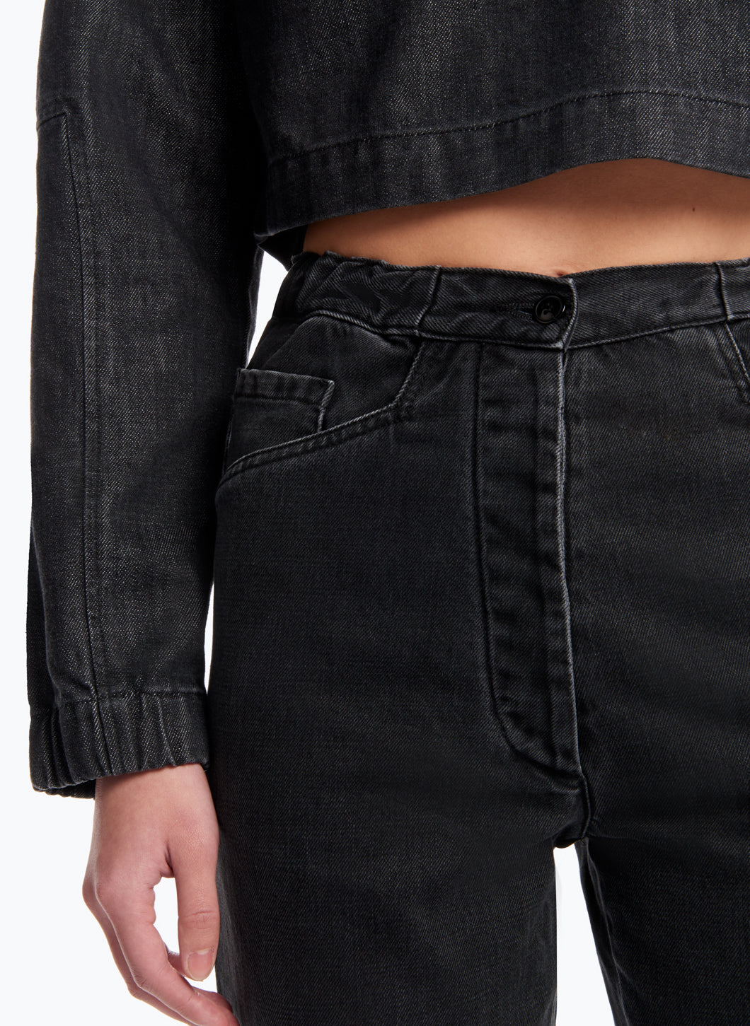 5-Pocket Pants in Black Denim