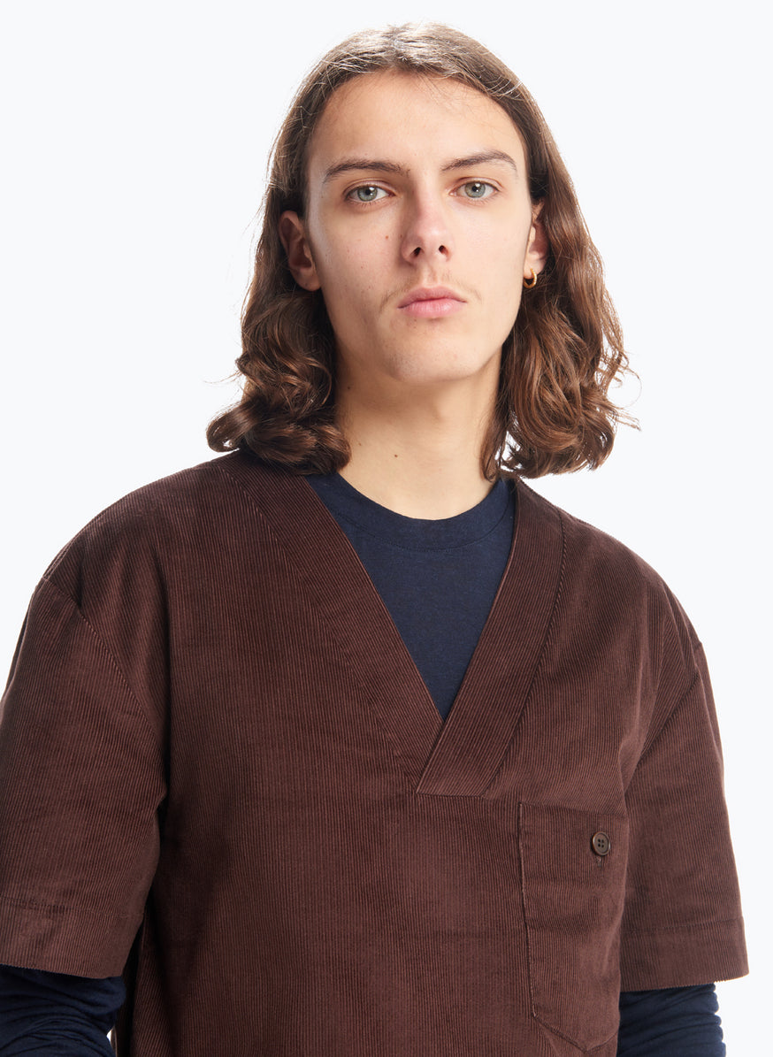 Boubou T-Shirt in Chocolate Corduroy