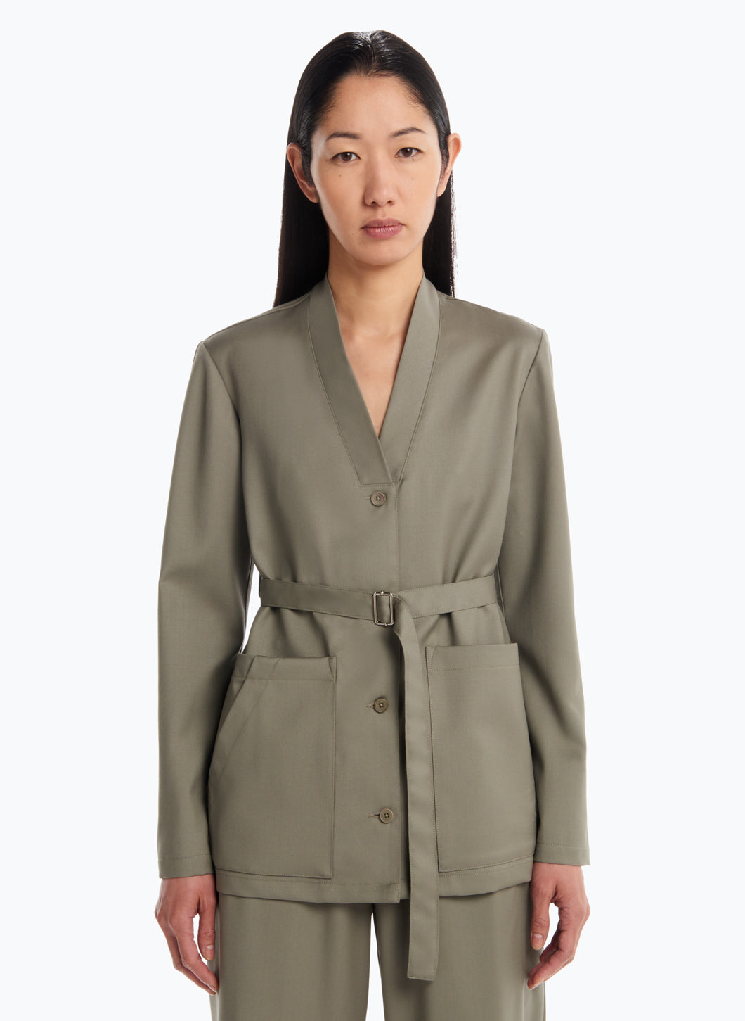 Tailored Jacket in Clay Cool Wool