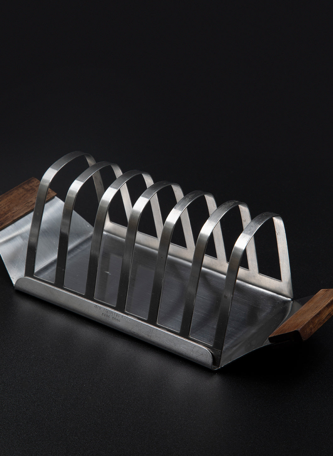 Stainless Steel Toast Rack with Wooden Handles
