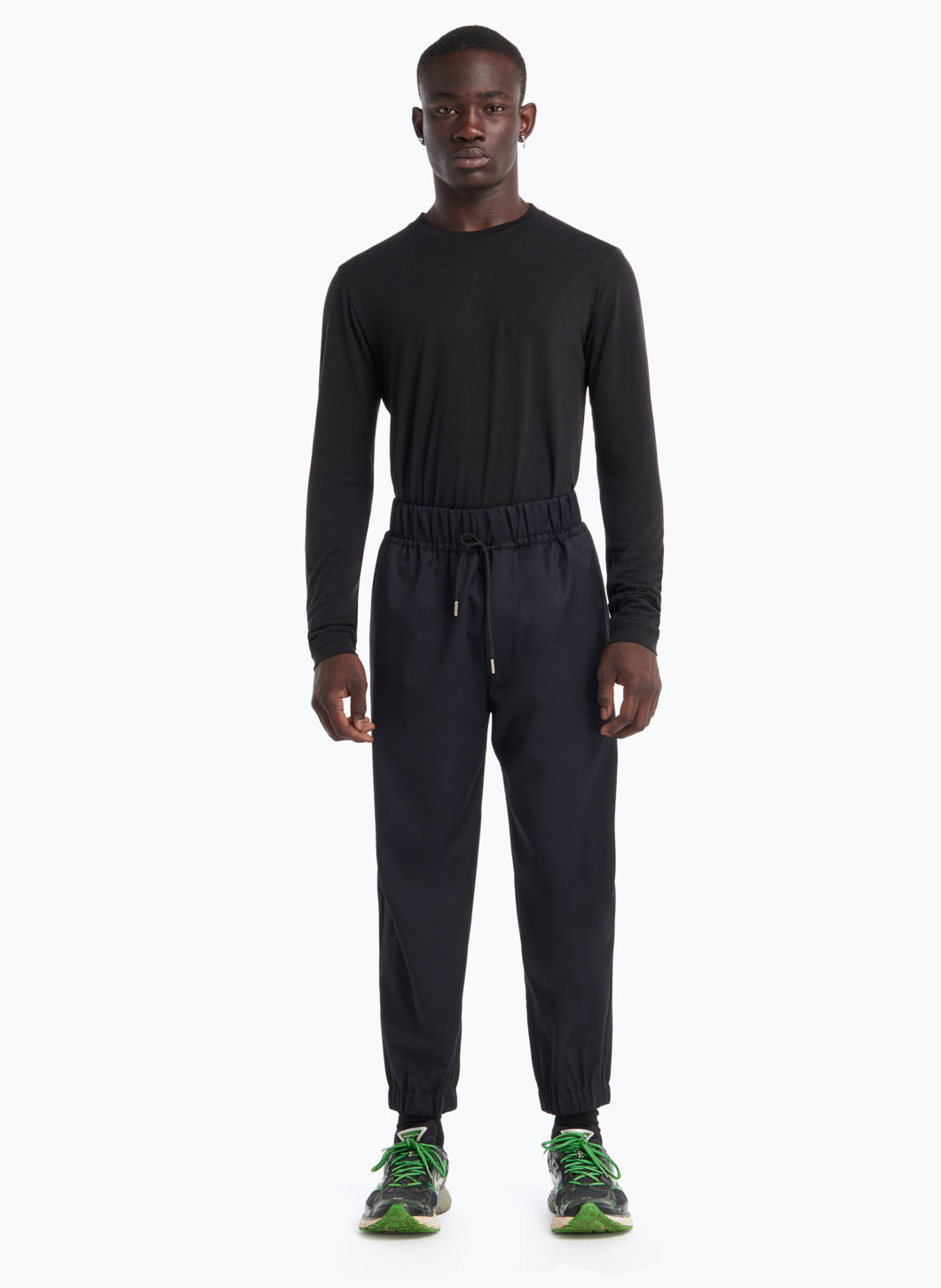 Jogging Pants in Midnight Blue Cool Wool