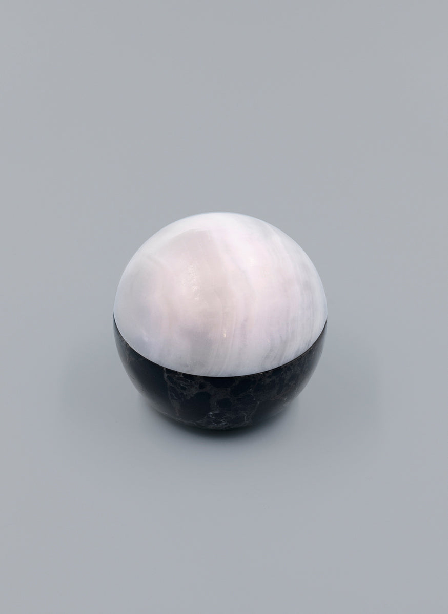 Ball Box in Green Alabaster and Marble