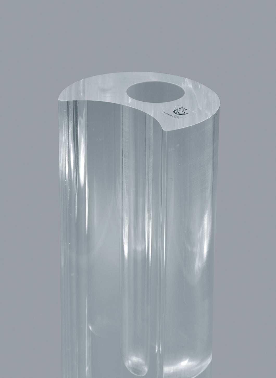 Soliflore Vase in Transparent Plexiglas