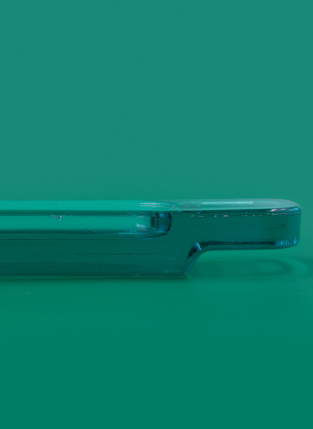 Emerald Glass Slender Writing Case