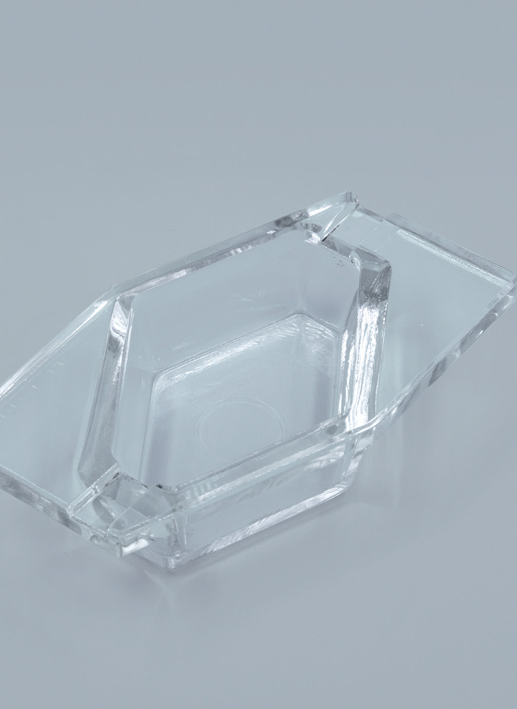 Geometrical Tray in Transparent Glass