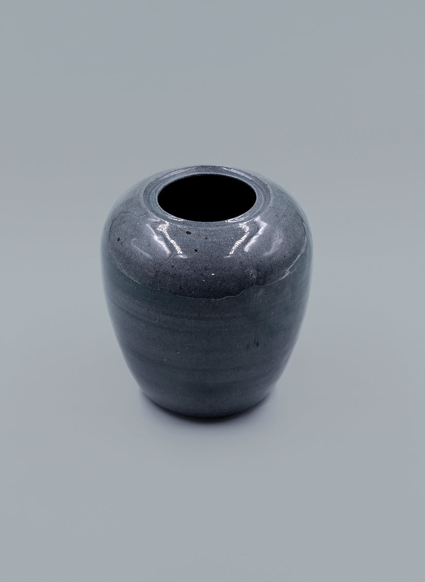 Speckled Blue-Grey Ceramic Vase