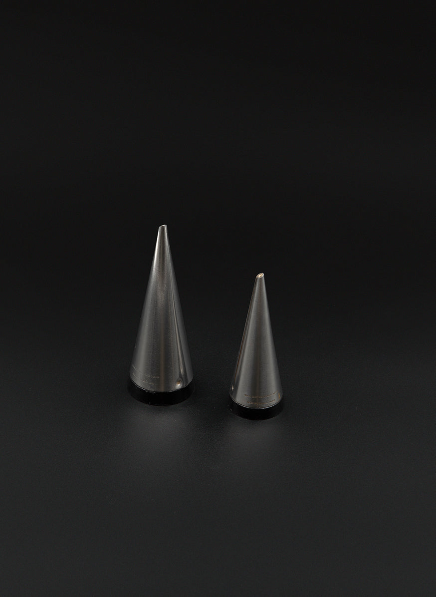 Conical Salt & Pepper Shakers in Stainless Steel