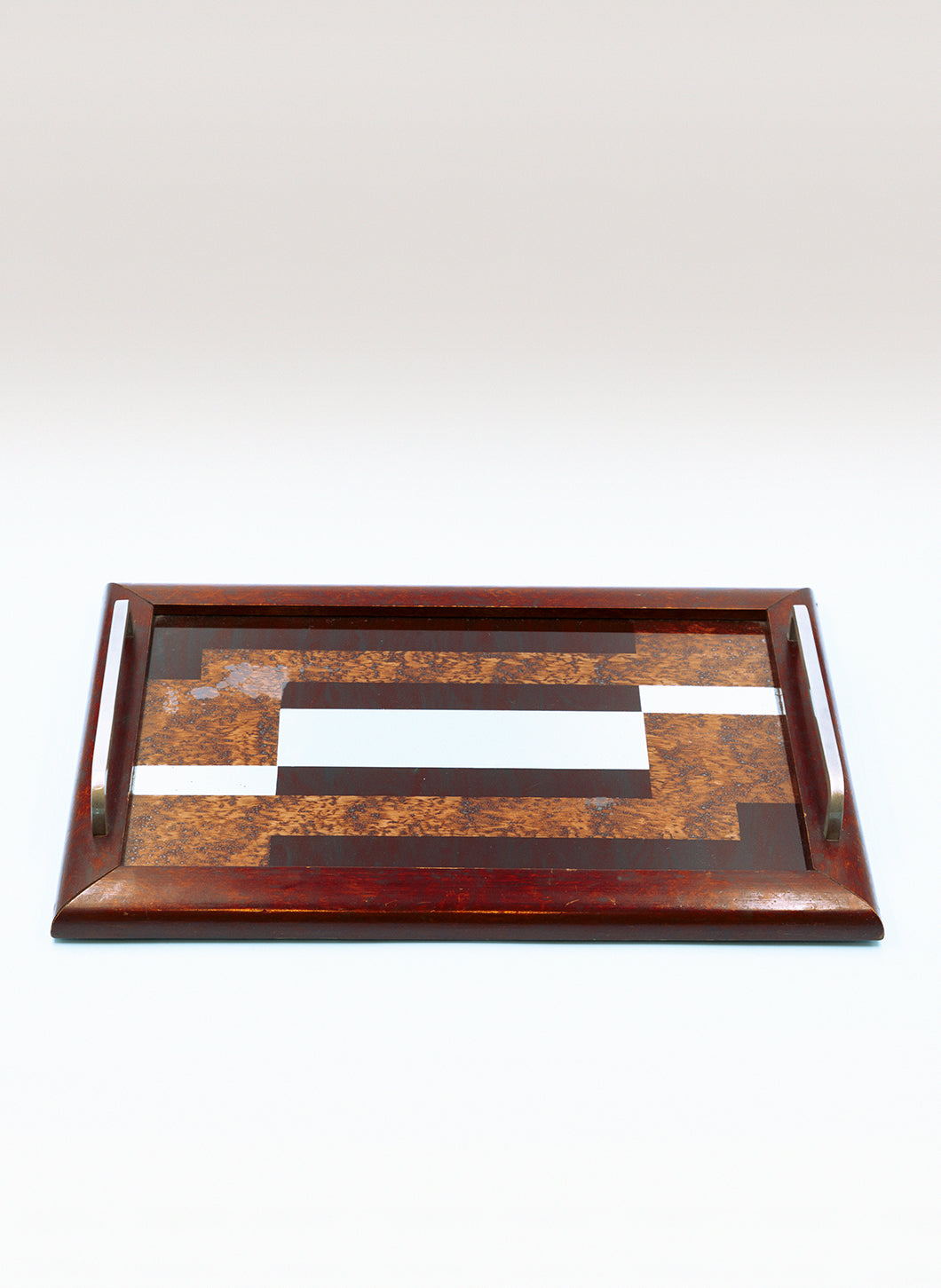 Rectangular Tray with Graphic Marquetry