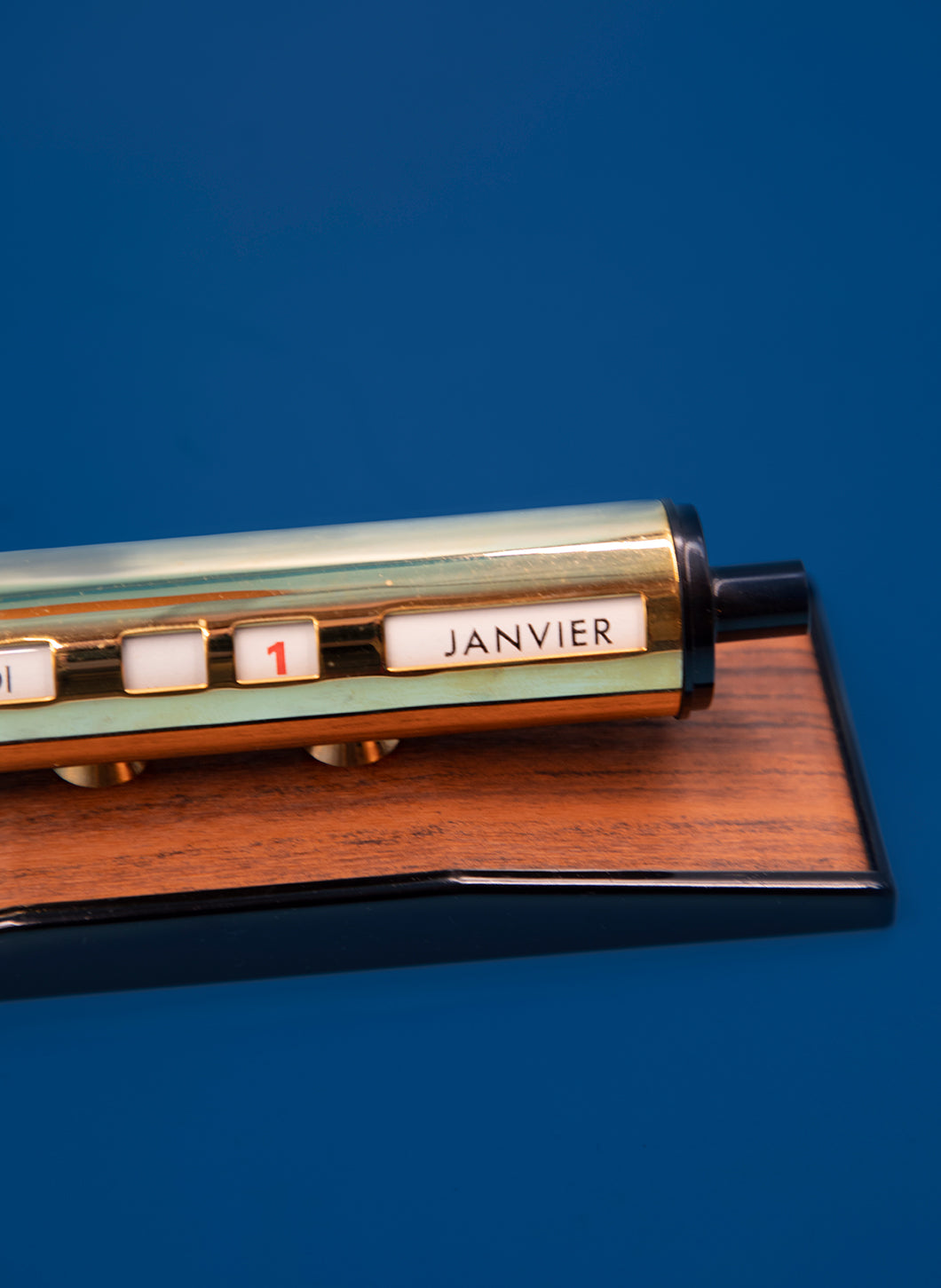 Cylindrical Gilded Perpetual Calendar