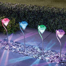 Load image into Gallery viewer, Solar Power LED Light Lawn Outdoor Waterproof Diamonds Pathway Path Landscape Stake Lamp for Garden Decoration Lamps