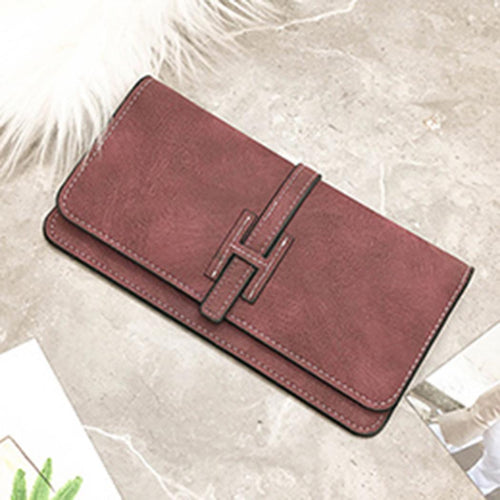 Bag Long Wallet Leather Thin Purse Card Holder Clutch Women