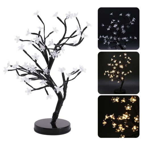 LED Cherry Blossom Bonsai Tree Fairy Twig Lights Table Floor Lamps