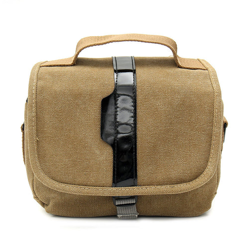 Camera Bag Shoulder Bag Comfortable Travel Bag Outdoor Camera Canvas Bag Single Shoulder Bag Zipper SLR Camera Camera