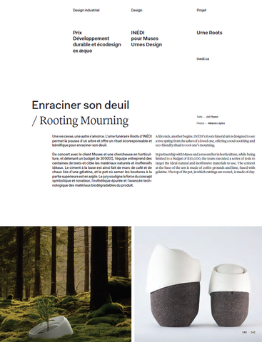 ROOTS design prize for funeral urn - biodegradable cremation urn that becomes a tree