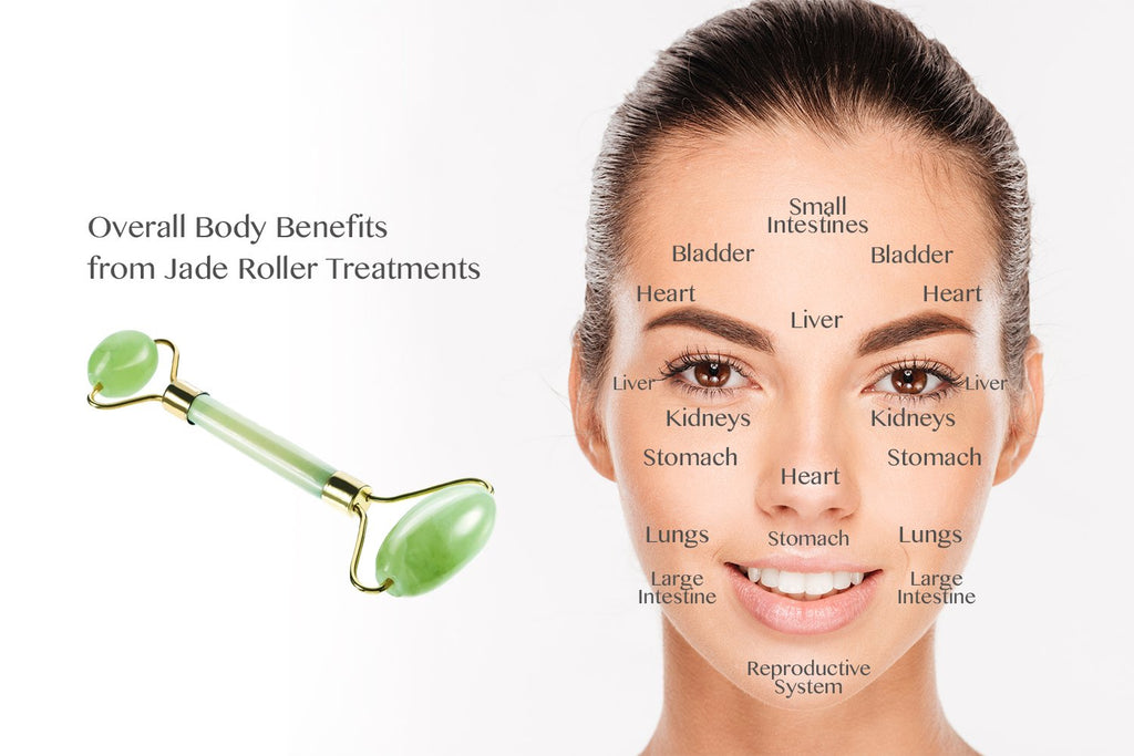 Overall body benefits of a jade roller